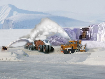 Snow harvesting operation